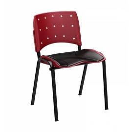 Cadeira Secretária Fixa Empilhável - Linha Ergoplax - Plaxmetal