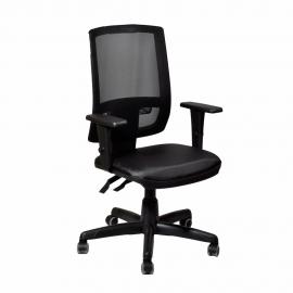 Cadeira Presidente Giratória Brizza Tela Com Back System Sem Encosto