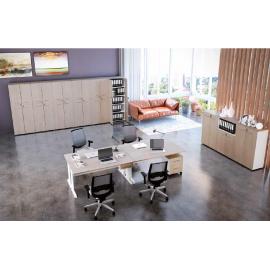 Armário dinâmico (prateleira de 25mm) para Escritório Executive Desk 725710 - Linha M - office 25mm