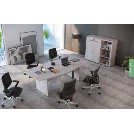 Mesa de reunião COM conectividade para Escritório Executive Desk 725514 - Linha M - office 25mm