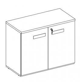 Armário para Escritório Executive Desk 25100 - Linha M - Maestra 25mm