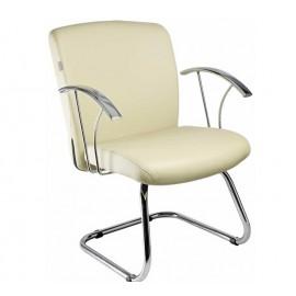 Cadeira Diretor fixa contínua com braço cromado-Linha Sargas-Mobilan
