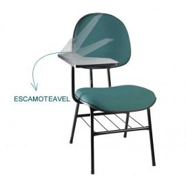 Cadeira Executiva universitária com prancheta escamoteável/ Linha Draco- Mobilan