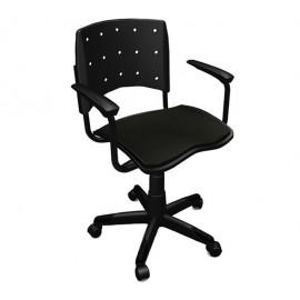 Cadeira Secretária Giratória Ergoplax Preta