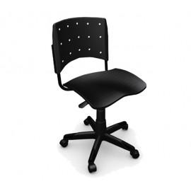 Cadeira Secretária Giratória sem estofado e braço Ergoplax Mais Preta